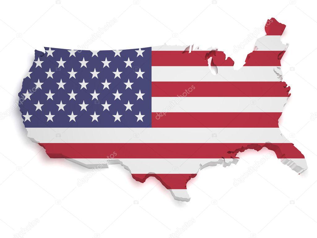 USA Map D Shape Stock Photo NiroDesign - Usa map shape