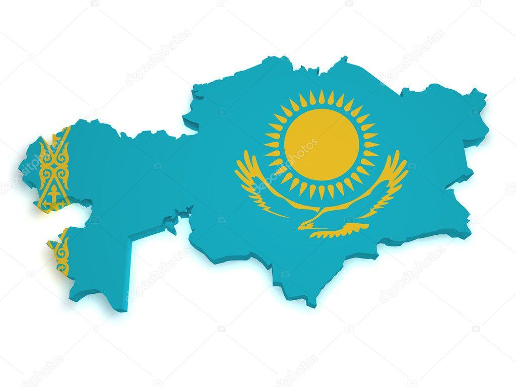 Kazakhstan Map D Shape Stock Photo NiroDesign - Kazakhstan map