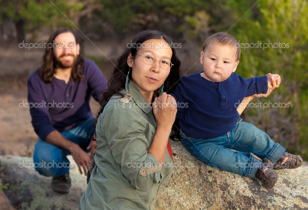 Family in nature