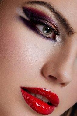 Closeup shot of makeup