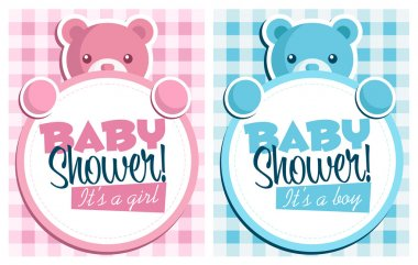 Baby Bear Invitation Cards.