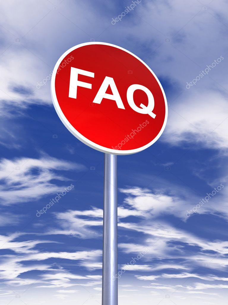 Faq sign traffic