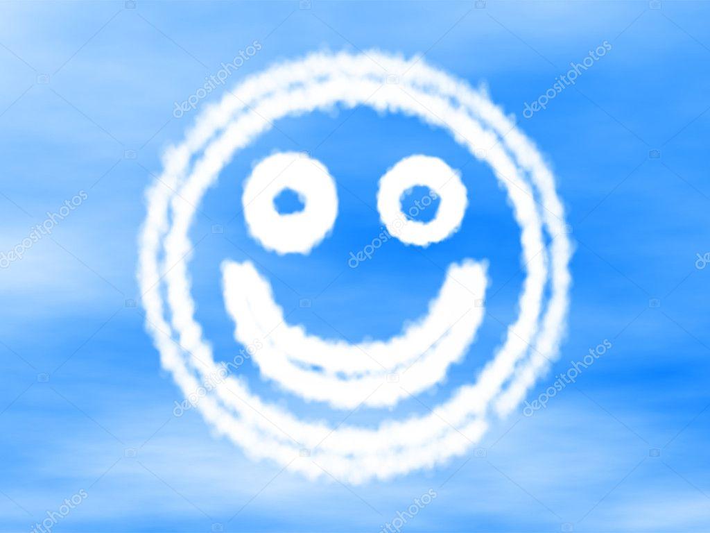 Smiley Gemacht Von Cloud Stockfoto Sebicla 11353198