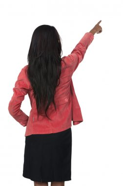 Woman Pointing From Back