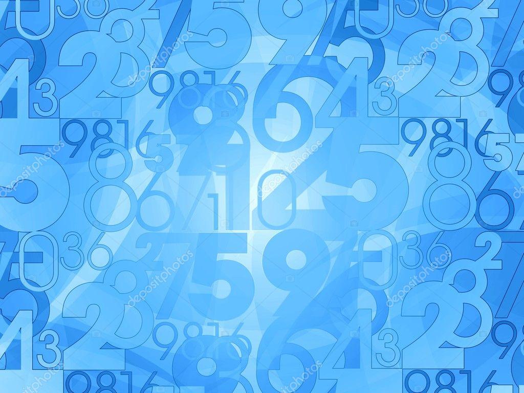 числа на голубом фото никто