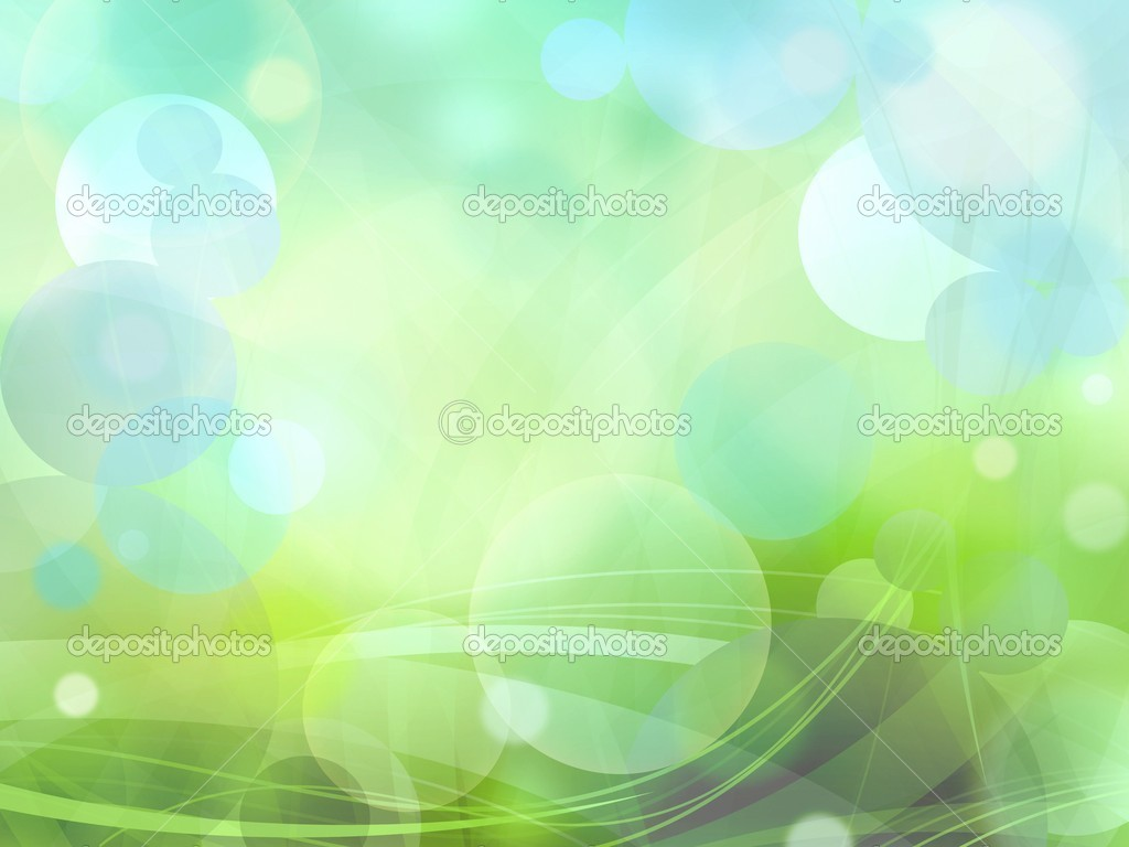 Bokeh circles of light on green background texture