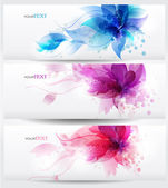 Fotografie Flower vector background brochure template.