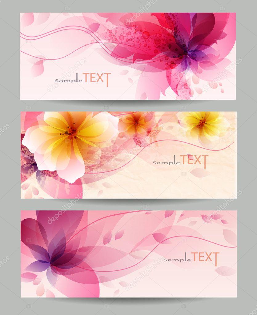 Flower vector background brochure template.