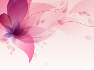 Abstract colorful backgroundwith flowers stock vector