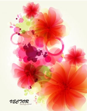 Abstraction flower background