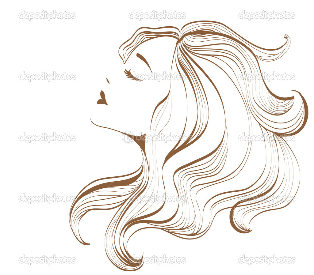 woman face with long hair � stock vector 169 lyudo 11193026