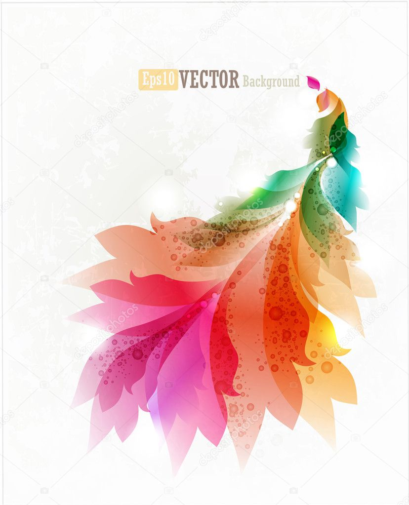 Colorful floral abstract background
