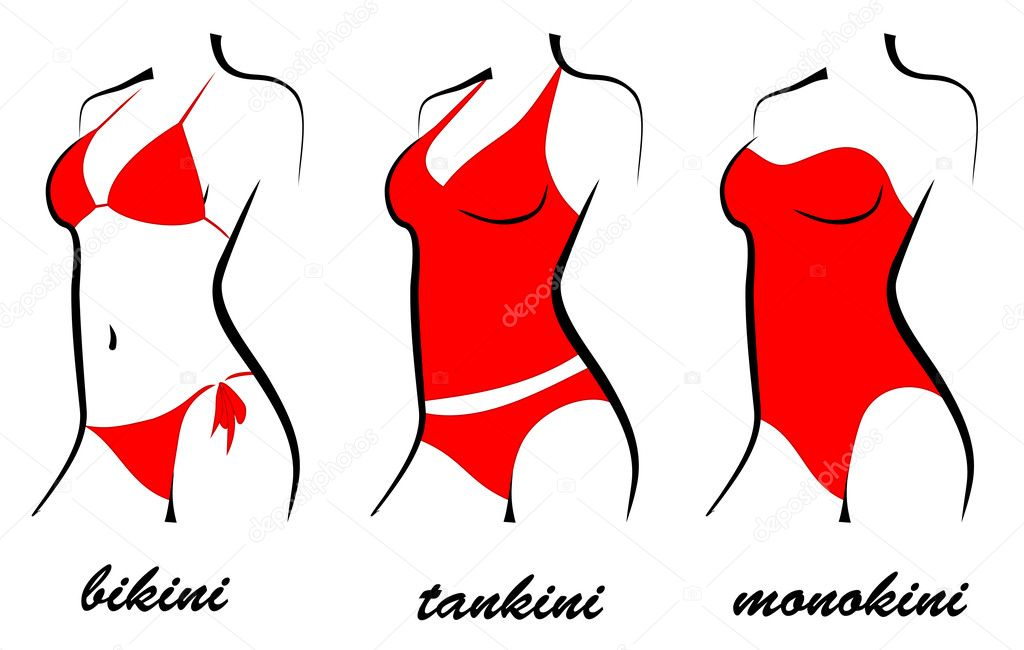 Silhouette swimwear — Stock Vector © anvtim #11592299