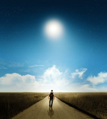 Walk with moon