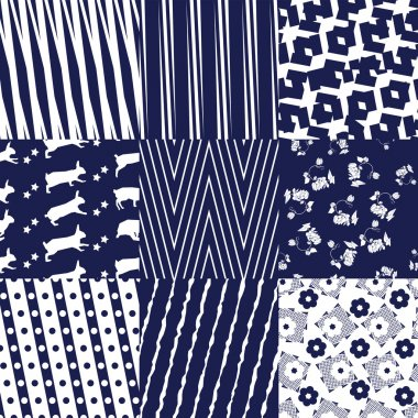 Blue Seamless Patterns