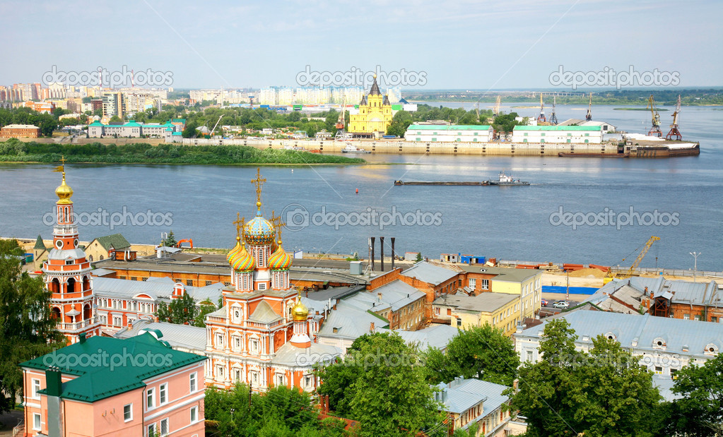Panoramic july view of Nizhny Novgorod Russia
