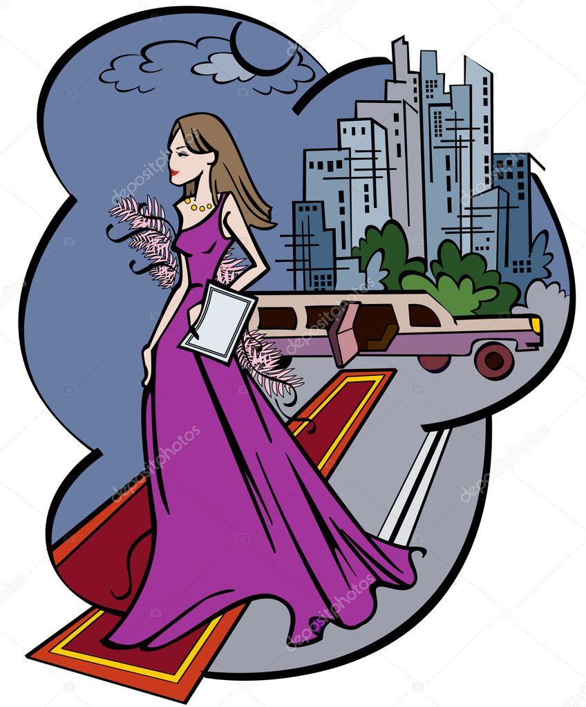 mujer bonita caricatura vector — Vector de stock © 3dsparrow #11892015