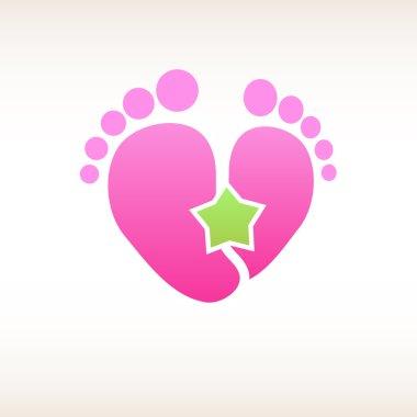 Logo birth , baby - pink