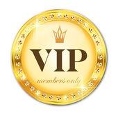 VIP popisek. Zlatá