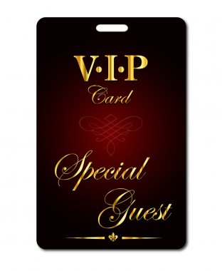 Vip card. Special guest