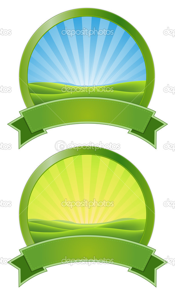 Green Sunrise Banners