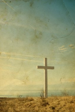 Vintage cross background