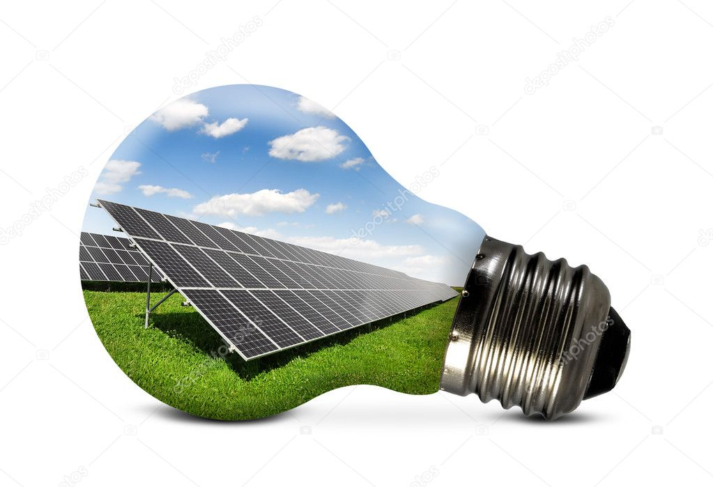 Bulb with of solar panel