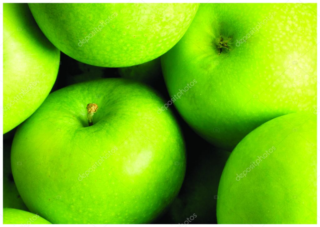 The fresh green apple