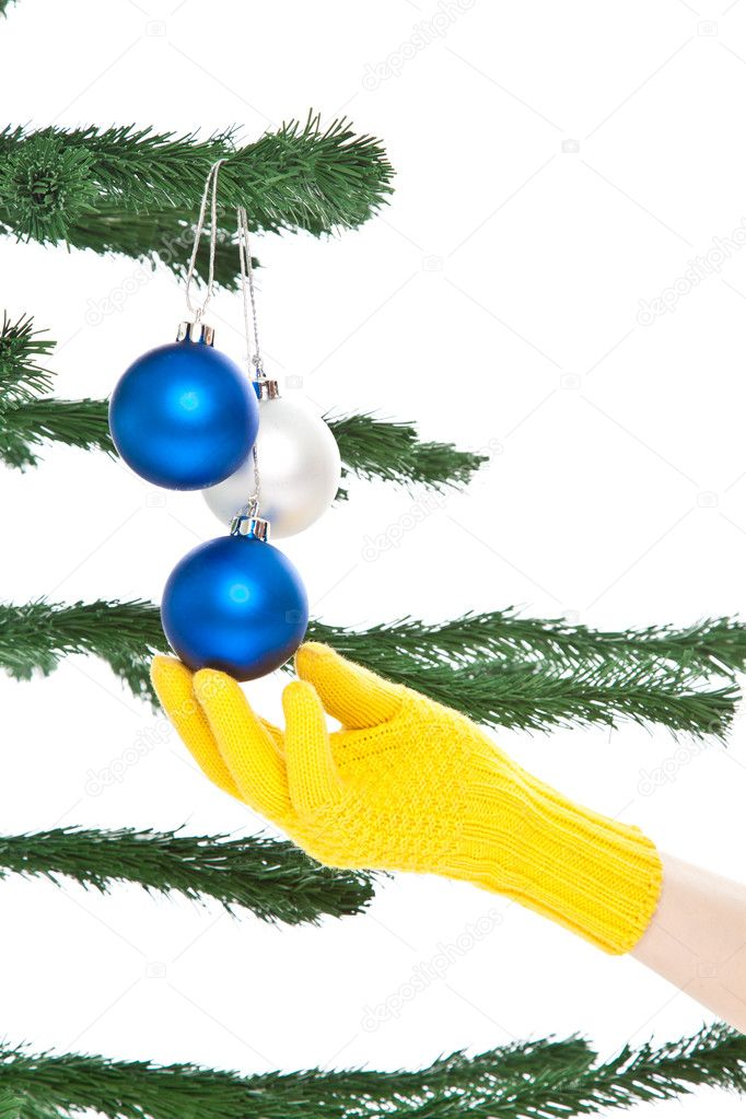 Dressing christmas tree — Stock Photo © Baton72 #11610296