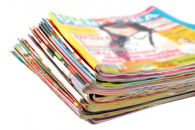 Old colored magazines