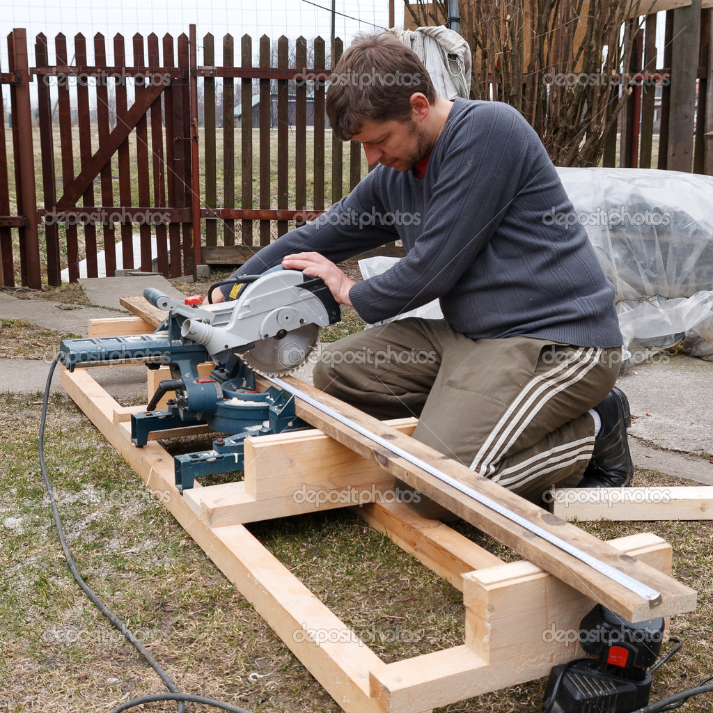 Carpenter working — Stock Photo © aigarsr #11962973