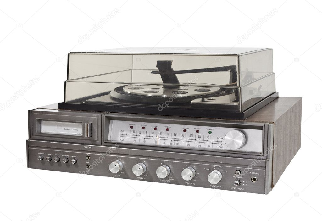 Vintage 1970s 8 Track Stereo Record Player — Stock Photo