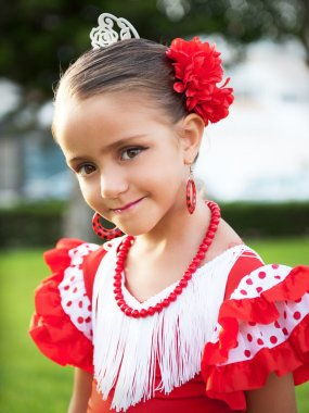 Portrait of a Girl in a dress with its traditional nature
