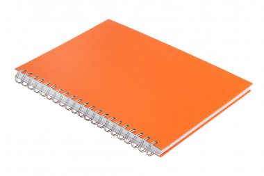 Notebook with an orange cover
