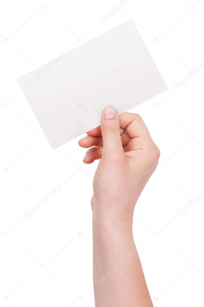 Paper envelope in his hand of man