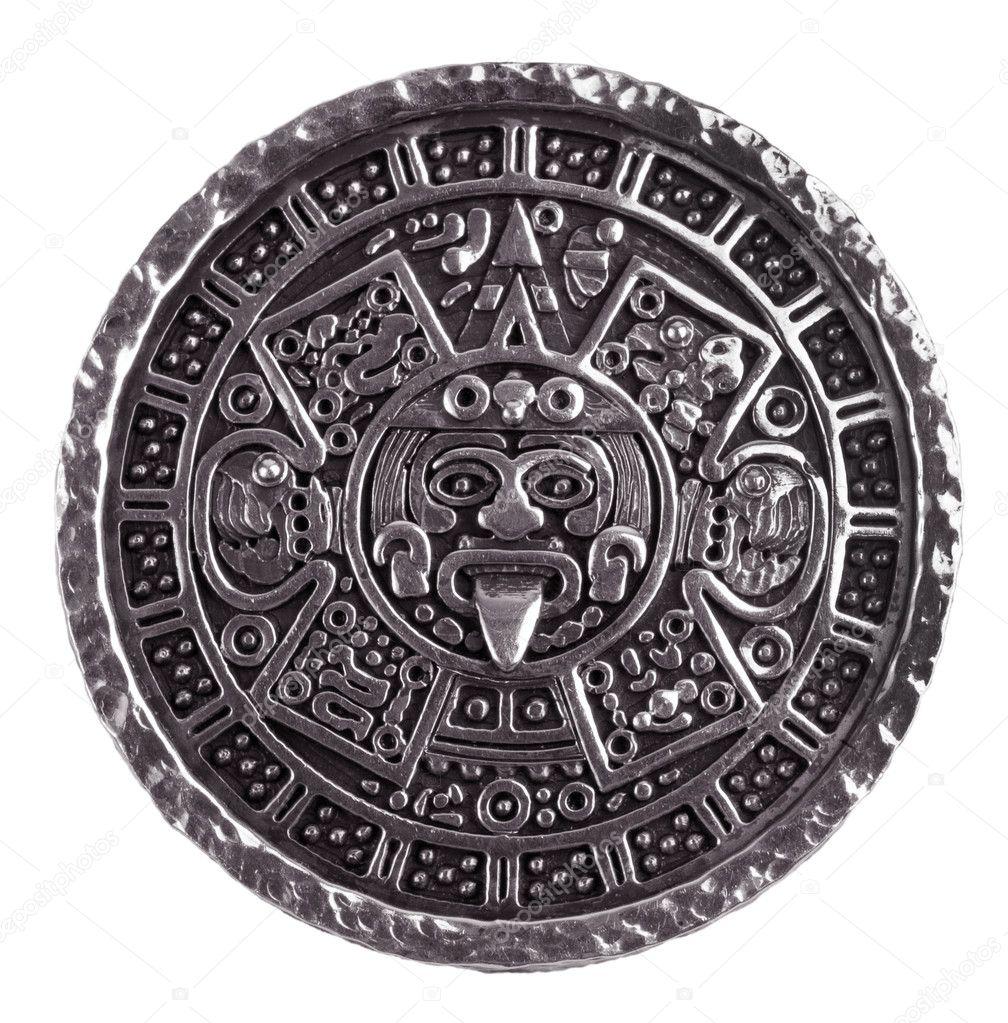 Il Calendario Maya.Disegni Maya Calendario Medaglione Inciso Con Il