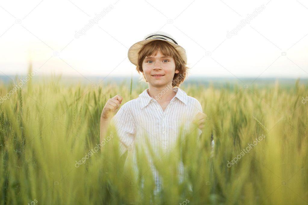 Little boy in the hat