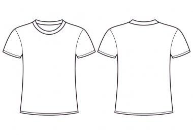 Blank t-shirt templateck