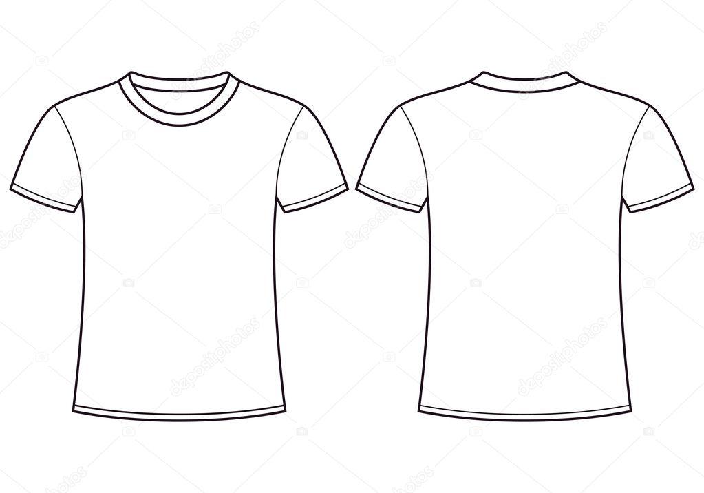 blank t shirt templateck stock vector nikolae 11139614