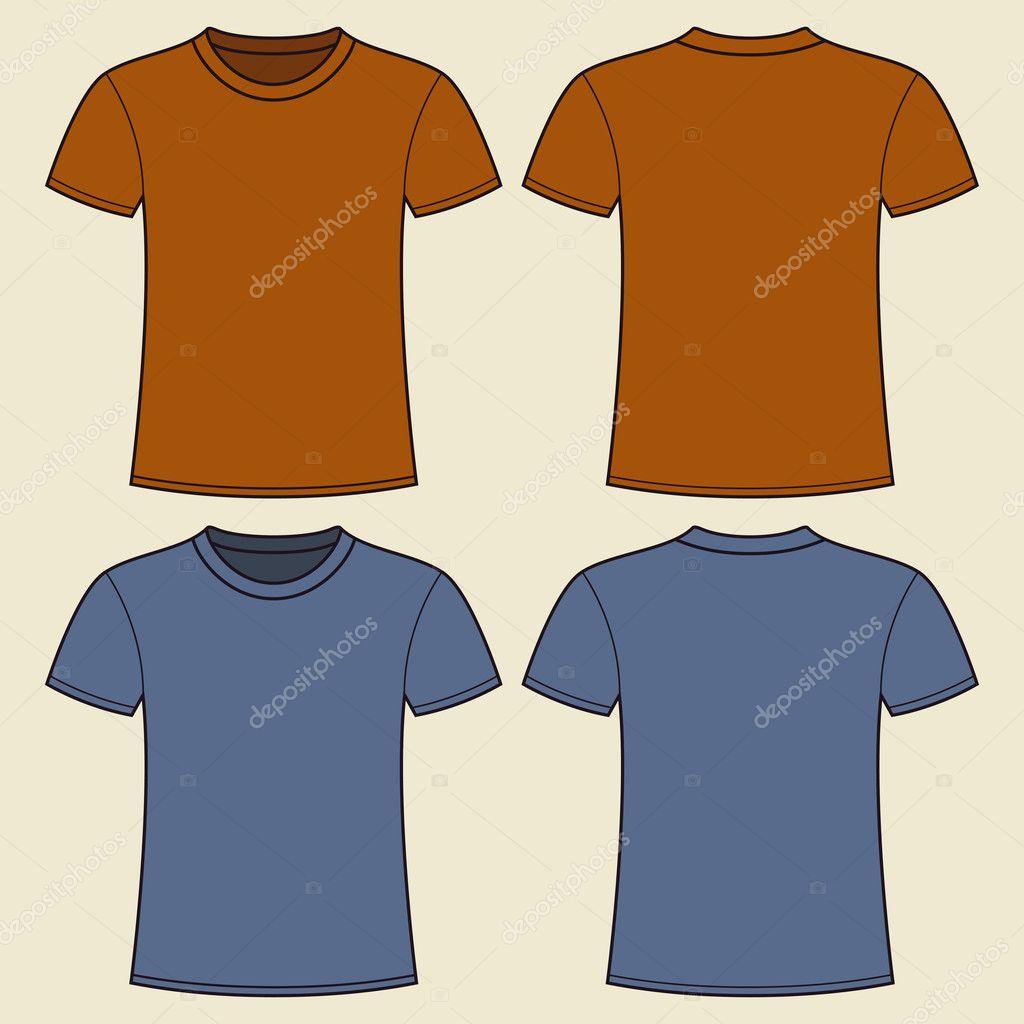 leere T-shirt-Vorlage — Stockvektor © nikolae #11139633