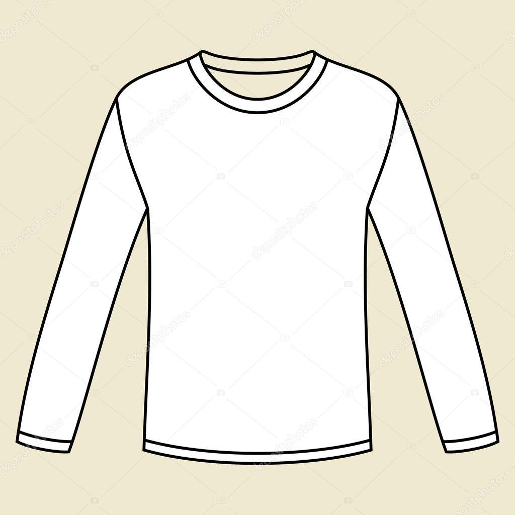 Long sleeved t shirt template stock vector nikolae 11158826 white long sleeved t shirt template vector by nikolae maxwellsz