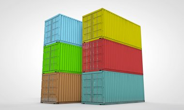 Containers isolated on white background stock vector