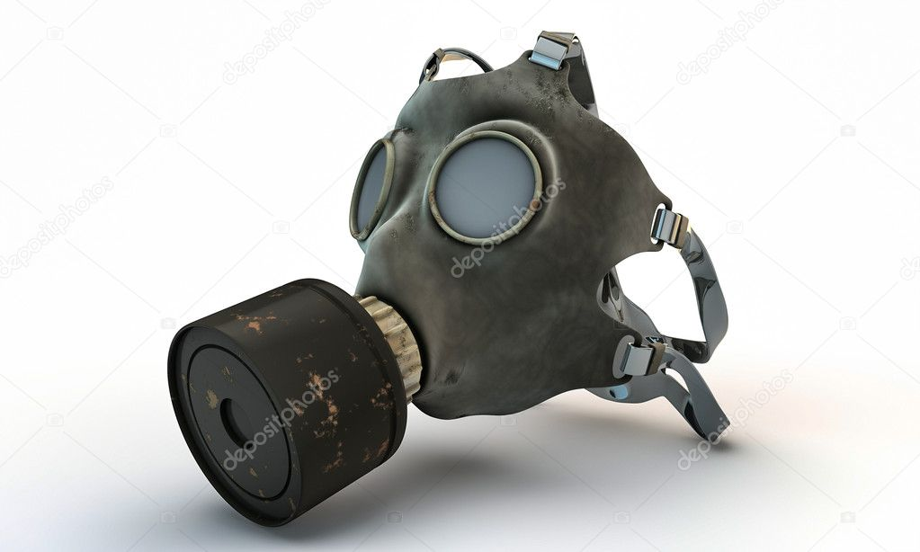 Gas mask isolated on white background stock vector