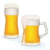 Fotografie sklenice studeného piva s