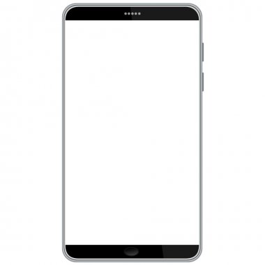 Illustration of latest smart phone isolated in white background. stock vector