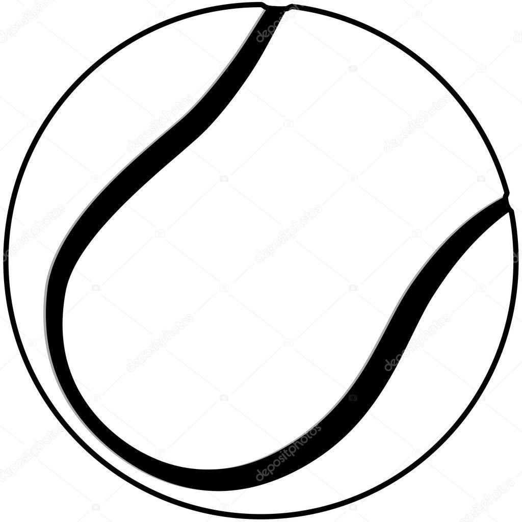 tennis ball outline stock vector jomaplaon 11903187 rh depositphotos com Tennis Ball Outline Baseball Clip Art