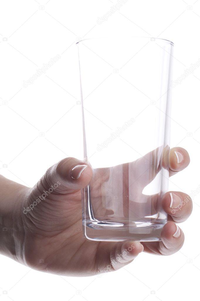 картинка пустой стакан в руке смартфонов