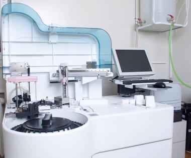 Laboratory analyzing medical equipment.