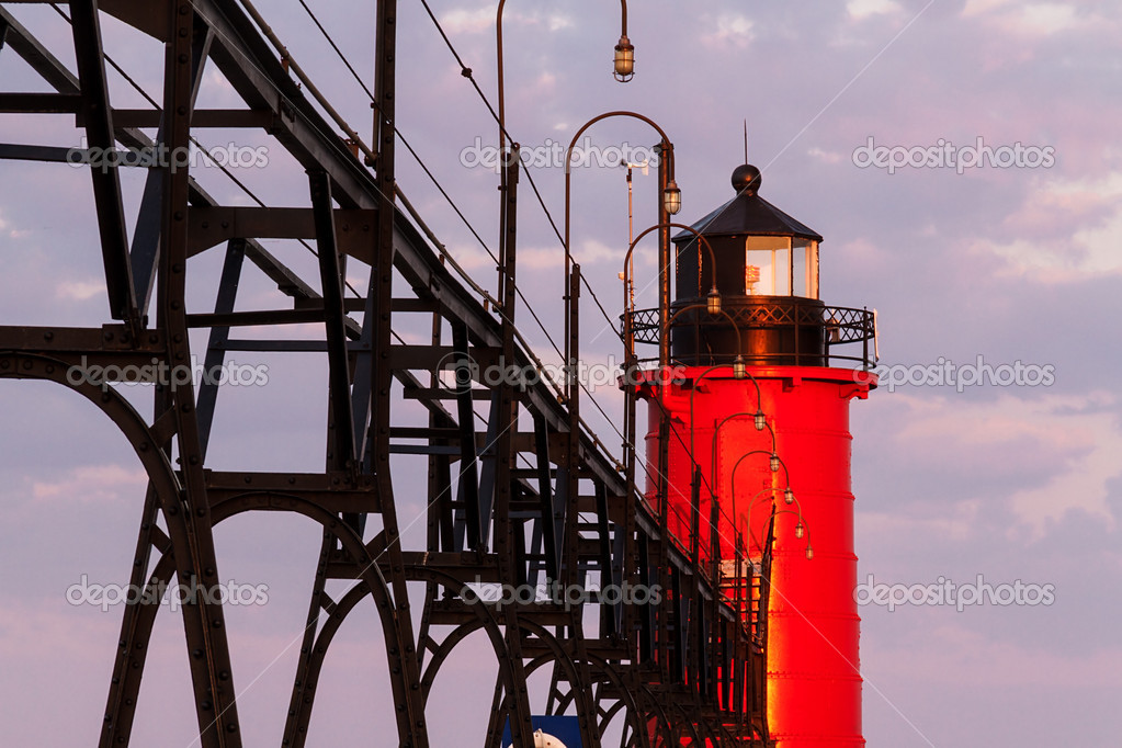 South Haven Lighthouse at Sunrise