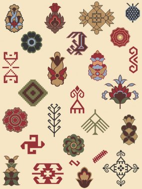 Collection of carpet patterns